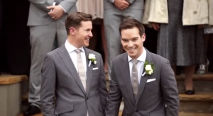 A scene of a gay wedding ceremony, which features in the Dutch and Norwegian versions of a new Coca-Cola ad, but not in Ireland. [Image: Coca Cola Norway]