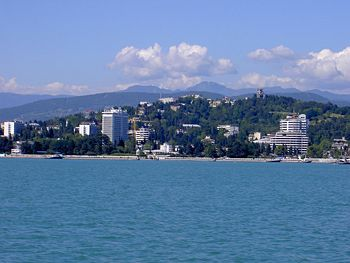 Sochi View From the Black Sea
