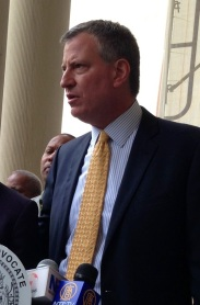 Bill de Blasio, Mayor of New York City, said he will not attend the St. Patrick's Day parade over the exclusion of LGBT groups. [Image: Wikipedia]