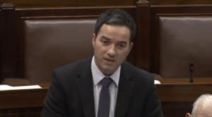 John Lyons TD (Lab.; Dublin North West) speaking in Dáil Éireann yesterday.