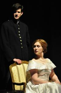 King Louis (Tom Flight) and Queen Marie-Antoinette (Emma Taylor) in a scene from The Gate of the Year. [Image: Gareth Russell]