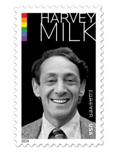 The new commemorative stamps, in honour of Harvey Milk, are available for $9.80 from the US Postal Service website.