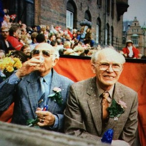 Axel & Elgil, Denmark's first gay couple to enter into a registered partnership, the precursor to same-sex marriage. [Image: LGBT Danmark]