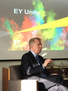 Mayor of Seattle, Ed Murray, speaking at the LGBT Diversity in the Workplace event at EY Ireland in Dublin.