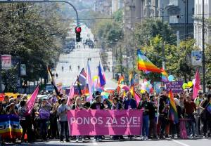 Belgrade Pride 2014 passed by relatively peacefully, in comparison to the riots which broke out in 2010. [Image: ParaDA! / Facebook]