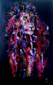 'Lion' by Jin Yong is just one of his many captivating artworks, now on display as part of his 'Be Fabulous~' exhibition.