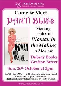 Panti Bliss Signing poster Grafton St