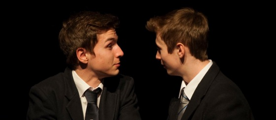Stephen McCombe as Blake and Paul Storrs as Cameron - Photo: Ella McMasters