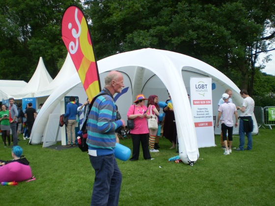 LGBT helpline tent