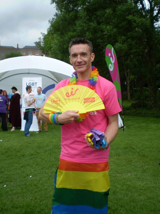 LGBT helpline nice fan giving man