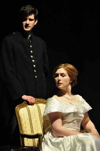 King Louis (Tom Flight) and Queen Marie-Antoinette (Emma Taylor) in a scene from The Gate of the Year - [Photo: Ella McMaster]