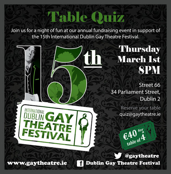Idgtf 2018 s annual table quiz and seeking volunteers for Table quiz dublin