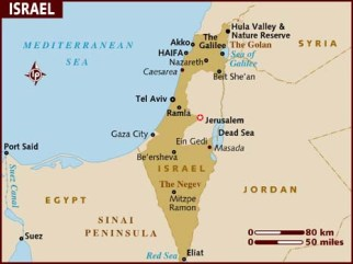 map_of_israel lonelyplanet com