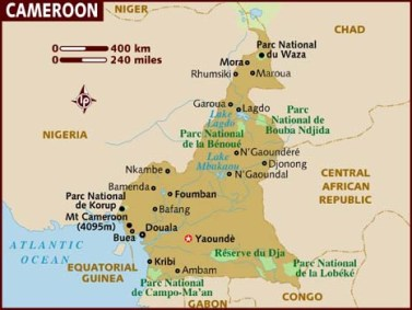 map_of_cameroon lonely planet